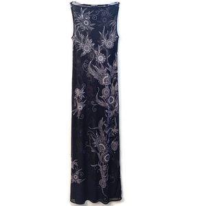 VIVIENNE TAM sheer black & white maxi dress